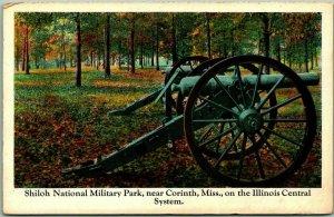 ILLINOIS CENTRAL RAILROAD Postcard Shiloh National Military Park, Corinth MS