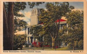 Across Emancipation Garden, Charlotte Amalie, St. Thomas, Virgin Islands, Unused