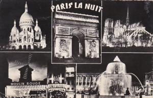 France Paris By Night Multi View 1961 Photo