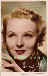 1937 Hand-Tinted RPPC: Anna Lee, Gaumont British Movie Star