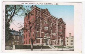 The Rockingham Hotel Illuminated Windows Portsmouth New Hampshire postcard