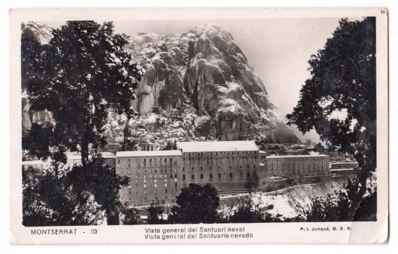 RPPC, Vista General Del Santuari Nevat, Montserrat