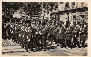 RPPC Le défilé a Oran Photos Hajduska et Sretchkovitch Algeria Vintage Postcard
