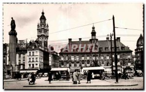 Old Postcard Lille Nord of General de Gaulle Place Left To the Goddess in the...