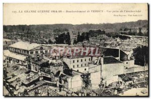 Old Postcard Bombardment De Verdun View Taking the ARCHDIOCESE Army