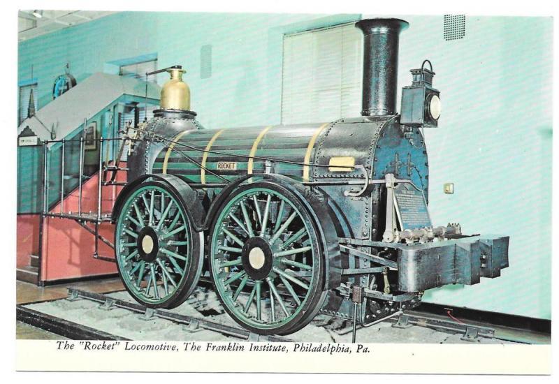 Rocket Locomotive Reading Railroad Train Postcard