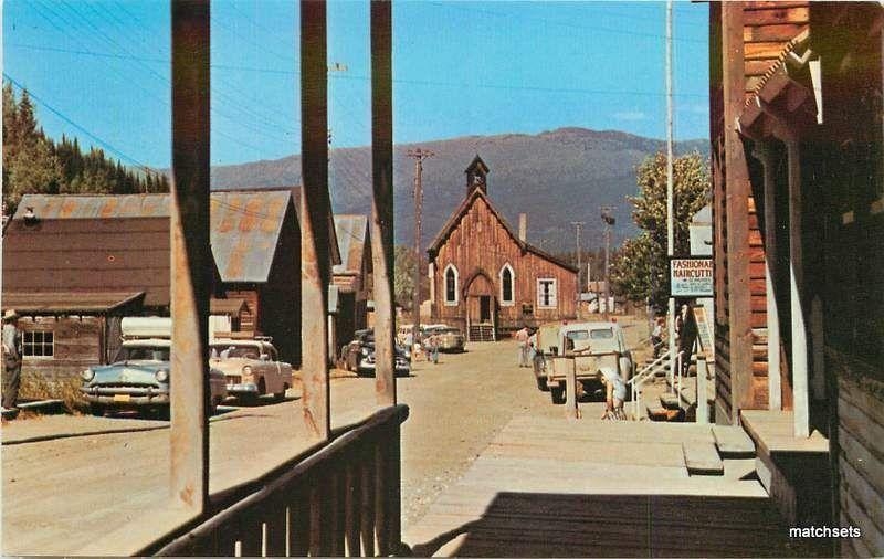 CANADA Ghost Town Gold Rush of Barkerville postcard 1645