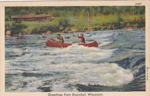 Wisconsin Greetings From Boscobel 1945 Curteich