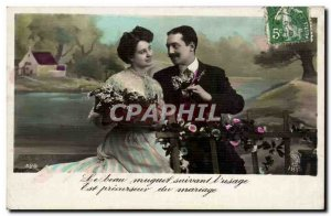 Fantasy - Couple - Beautiful thrush following the & # 39usage's wedding precu...