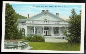 Homestead Hotel Bath House Hot Springs Virginia used c1943