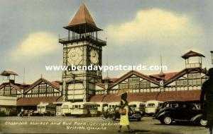 british guiana, GEORGETOWN, Stabroek Market and Bus Park (1958)