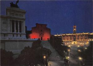 Italy Roma di Notte Ara Coeli Stairs and Capitol