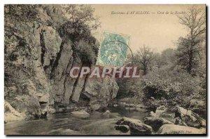 Old Postcard vicinity D & # 39Avallon Crot Of Lightning