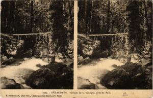 CPA GERARDMER gorges de la Vologne pres du pont (401603)