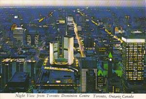 Panorama Night View From Toronto Dominion Centre Toronto Ontario Canada