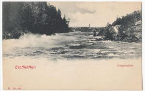 Sweden; Trollhattan, Helvetesfallet PPC, Unposted, Undivided Back, c 1900-05