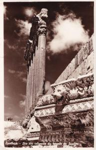 Baalbeck Baalbek Lebanon Jupiter Temple Real Photo Postcard