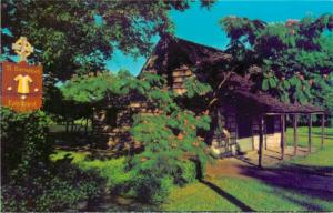 St Barnabas Chapel Fredricksburg West Creek Street Texas TX Postcard