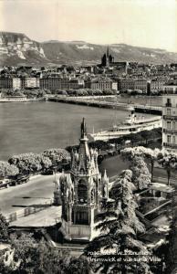 Switzerland Geneve Monument Brunswick et vue sur la Ville 01.91