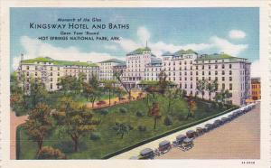 Arkansas Hot Springs Kingsway Hotel and Baths Curteich