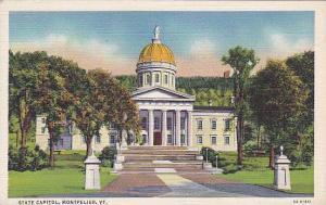 Exterior, State Capitol, Montpelier, Vermont, 30-40s