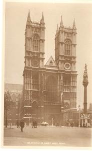 Westminster Abbey. West Front Tuck Real Photograph PC # 3717