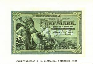 germany, Fünf 5 Mark 1904, BANKNOTES Modern Money Postcard