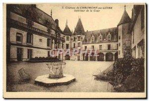 Old Postcard Chateau de Chaumont sur Loire Interior Court