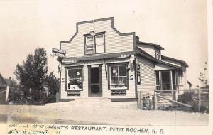 Petit Rocher N. B. Grant's Restaurant Great Signage Real Photo Postcard