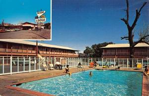 Moab Utah Desert Lodge Inn Pool View Vintage Postcard K97485