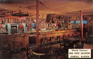 Juneau Alaska Red Dog Saloon Interior Antique Postcard K85306