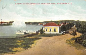 Rochester New York 1912 Postcard View Of Reservoir Highland Park