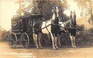 Readsboro VT Watkins Remedies Horse Drawn Wagon C. G. Brown RPPC Postcard