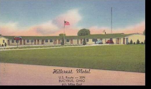 Ohio Bucyrus Hillcrest Motel