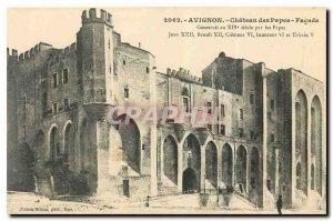 Old postcard Avignon Chateau des Papes Facade