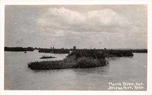 Bridgeport NE~Little Island on Platte River~Real Photo Postcard RPPC c1937 PC