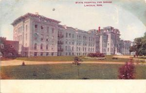 Lincoln Nebraska~State Hospital for the Insane~1906 Postcard