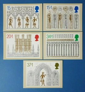 Set of 5 PHQ Stamp Postcards Set No.122 Christmas 1989 Ely Cathedral CL8
