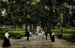 Massachusetts Boston Scene On The Common