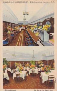 Manuels Cafe And Restaurant 112 West Market Street Greensboro North Carolina