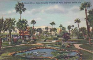 Florida Daytona Beach Street From Waterfront Park Curteich