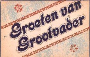 Groeten van Grootvader Holland Writing on back