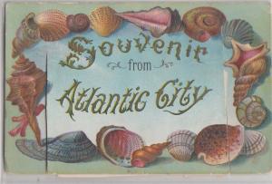c1910 ATLANTIC CITY New Jersey NJ Postcard FOLDER 12 Mini Views Boardwalk etc