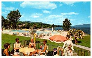 New York  Lake George  Inn and Motor Lodge , poolside