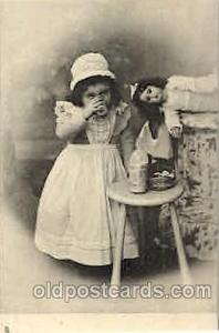 Children, Child with Doll Postcard Post Card