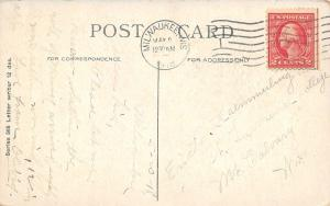 Where's That Letter?~Stuffed US Mail Pouch in Pansies~Write Poem~1918 Postcard