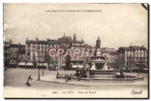 Old Postcard Le Puy Place dy Breul Upper Loite Picturesque