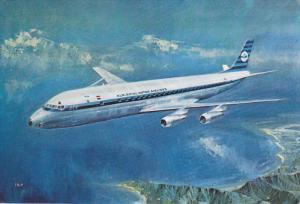 KLM´s Douglas DC-8 International Jet in flight, 50-70s