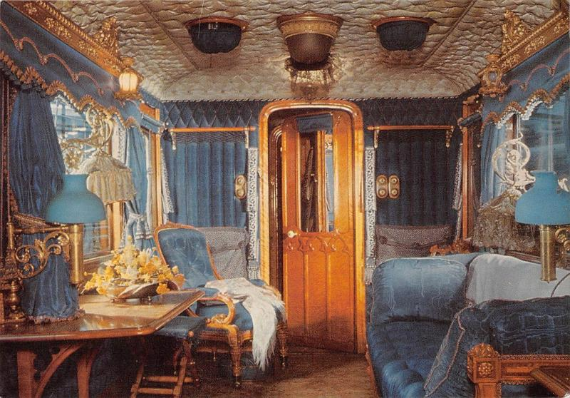 uk2073 queen victoria's saloon day compartment real photo uk