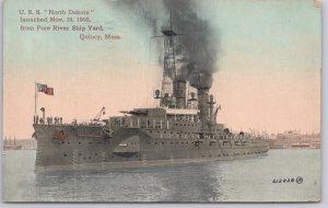 USS North Dakota (BB-29), Launched Nov. 10, 1908 - 1911